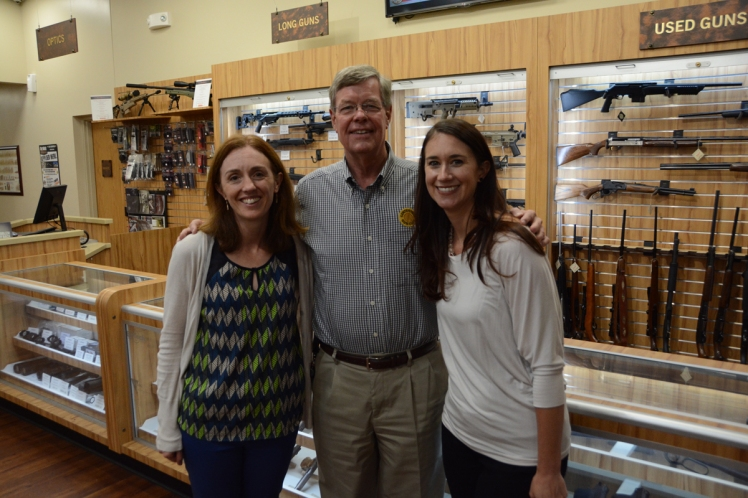 Group photo at the gun shop sized